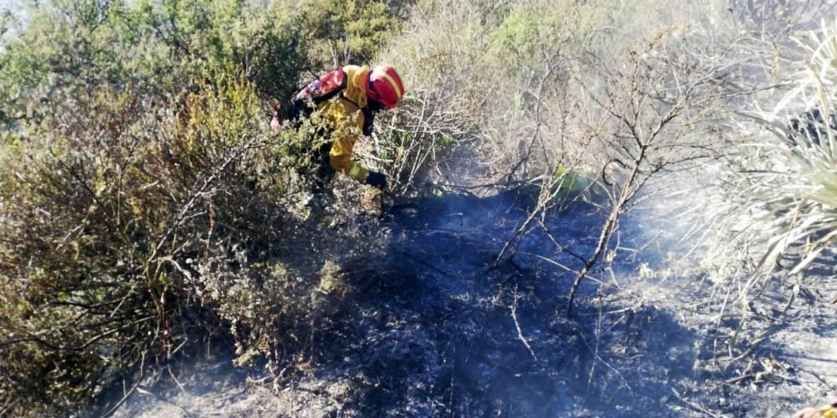 """""""No existe brote de fuego en el cerro Casitagua"""", según el comandante de Bomberos Quito"""