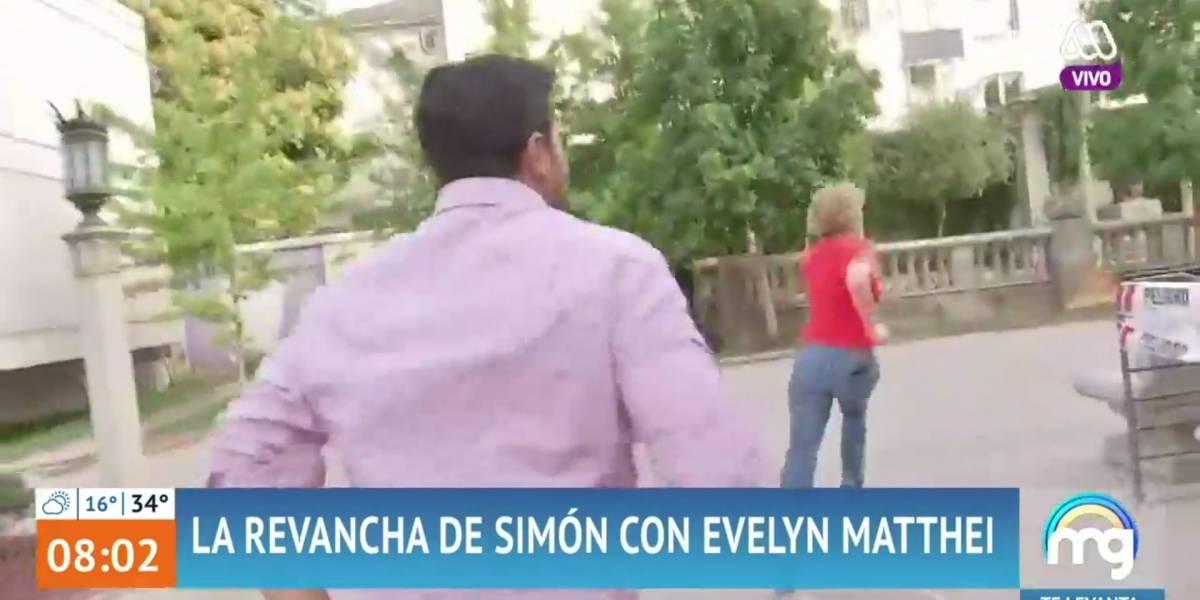 """""""La Usain Bolt de Providencia"""": periodista de """"Mucho Gusto"""" buscó su revancha contra Evelyn Matthei pero la alcaldesa corrió más rápido"""