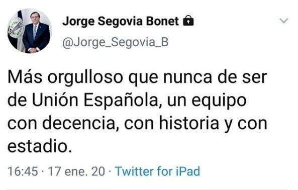 Twitter de Jorge Segovia