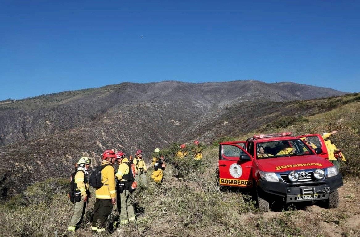 Ya no existen llamas en el cerro Casitagua