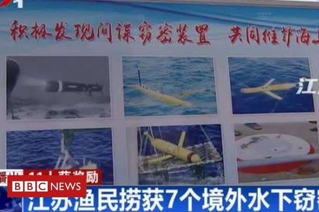 China: Pescadores reciben premios por encontrar dispositivos espías submarinos