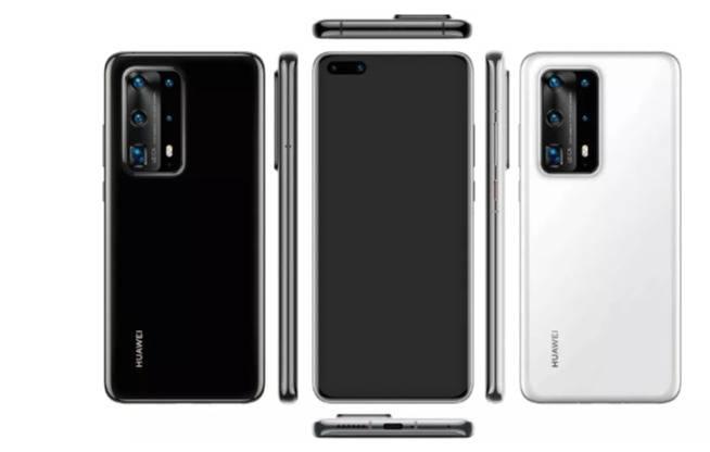 Huawei P40 muestra protuberancia de la cámara trasera con cinco lentes