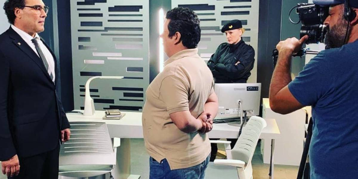 La foto de Luis Gerardo Rivera y Jorge Navarro Sánchez en el set de Sin Miedo a la Verdad