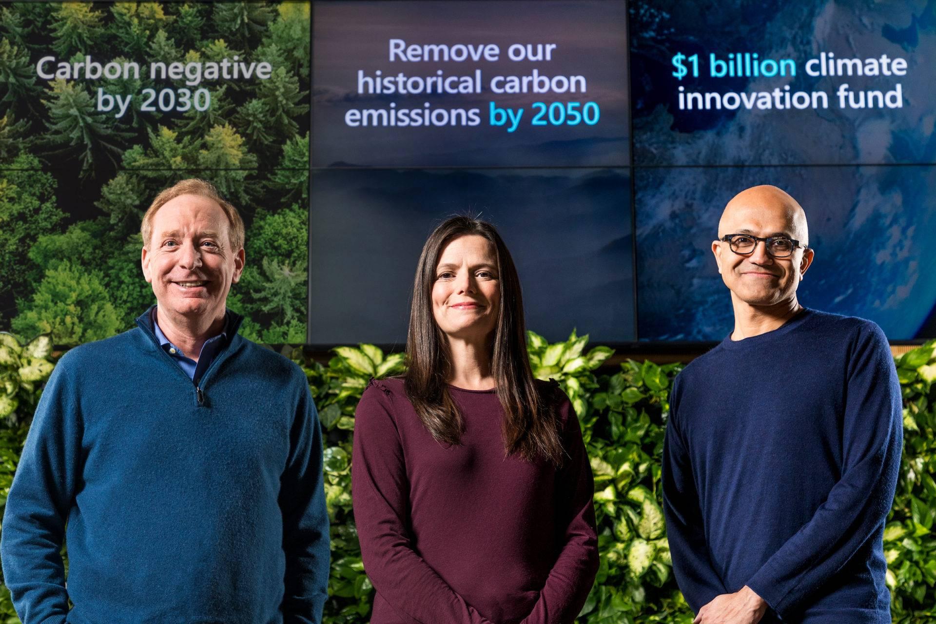 Microsoft se compromete a alcanzar una huella de carbono negativa en 2030