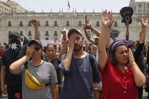 Marcha en silencio estallido social