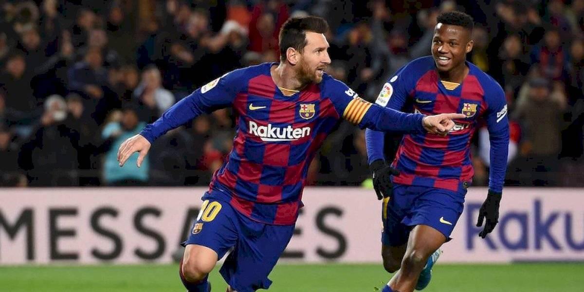 Quique Setién debuta con triunfo en el Barcelona gracias a Messi