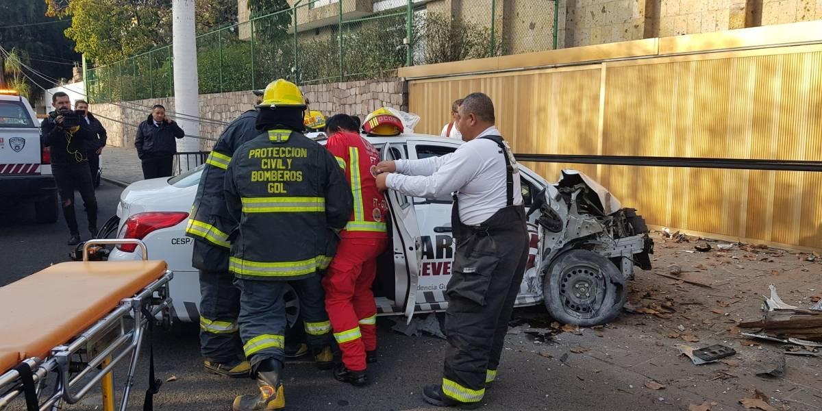 Choque en avenida La Paz deja saldo de una persona lesionada