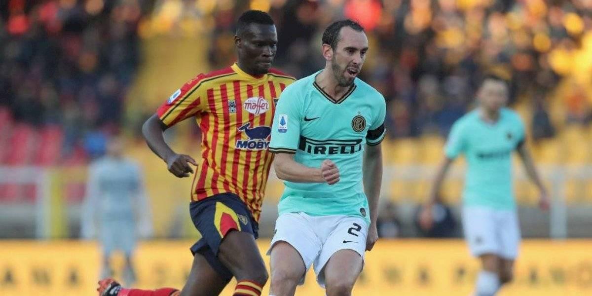 Inter de Milán de Alexis Sánchez igualó con Lecce y desaprovechó la oportunidad de ser líder de la Serie A