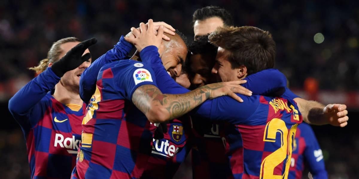 Arturo Vidal fue clave en el nuevo Barcelona de Quique Setién con notable habilitación de taco a Messi para vencer al Granada