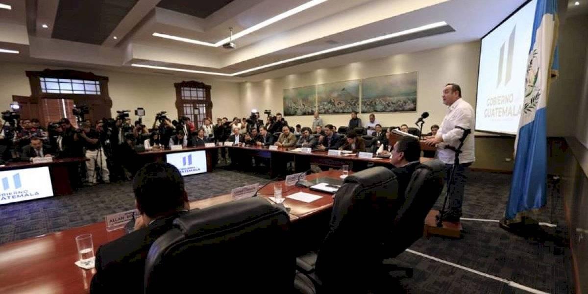 VIDEO. Alejandro Giammattei se reunió con diputados en Casa Presidencial