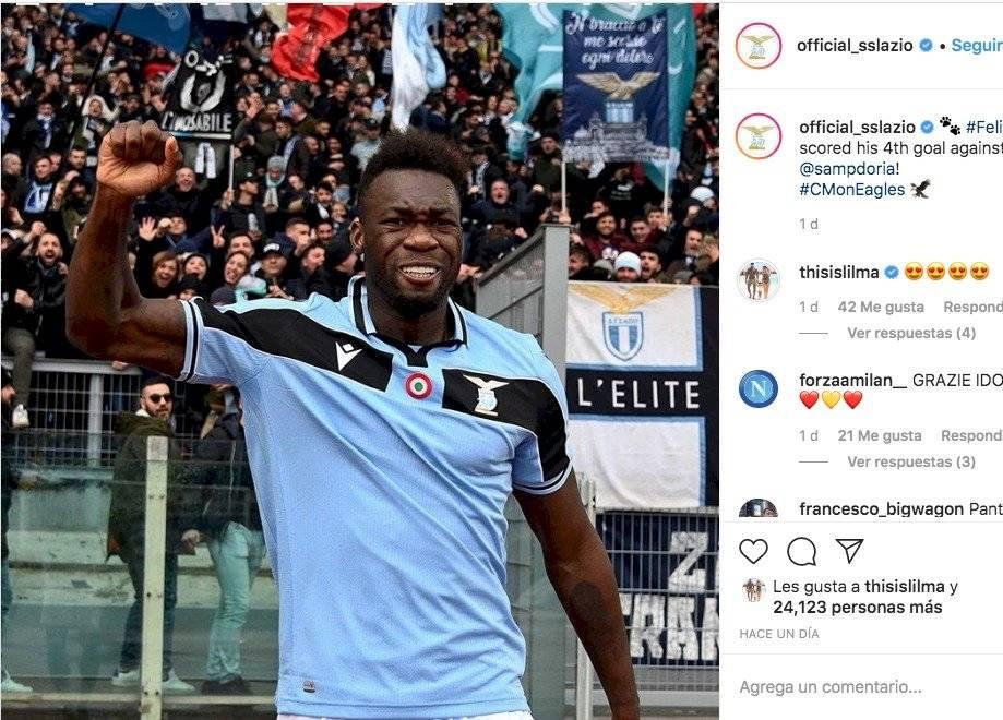 Felipe Caicedo en la Lazio