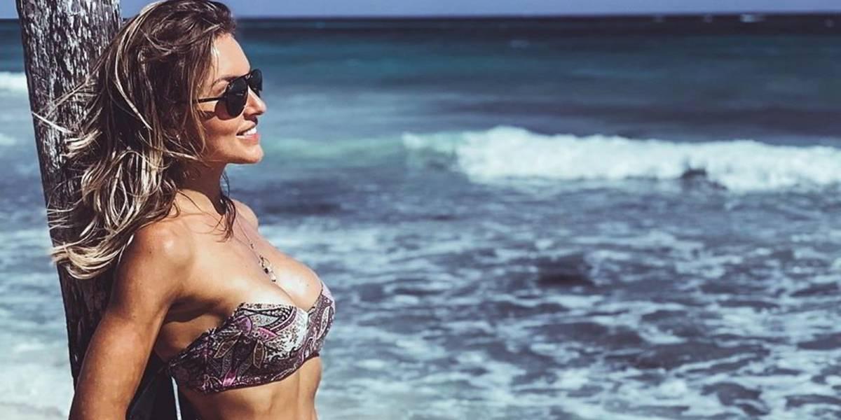 """Angelique Boyer reaparece en bikini y Sebastián Rulli le bromea: """"No te desconectes tanto"""""""