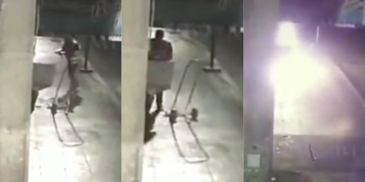 Captan a hombre incendiando local en Centro Histórico, denuncian extorsión