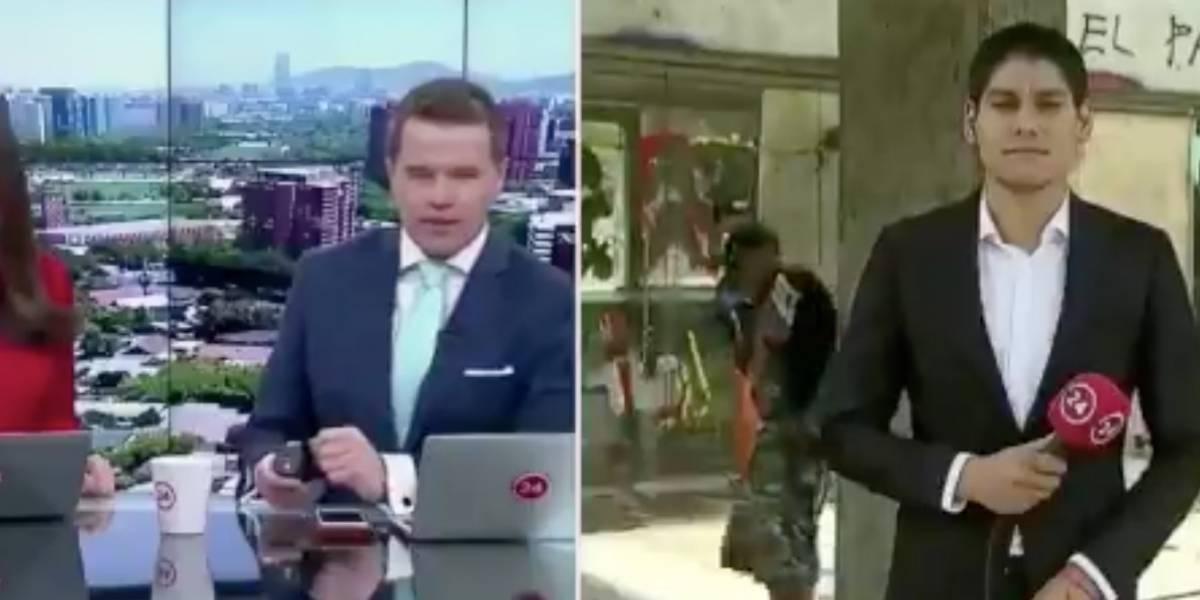 """""""Primer cara pálida del año"""": noticiero de 24 Horas sufre divertido chascarro"""