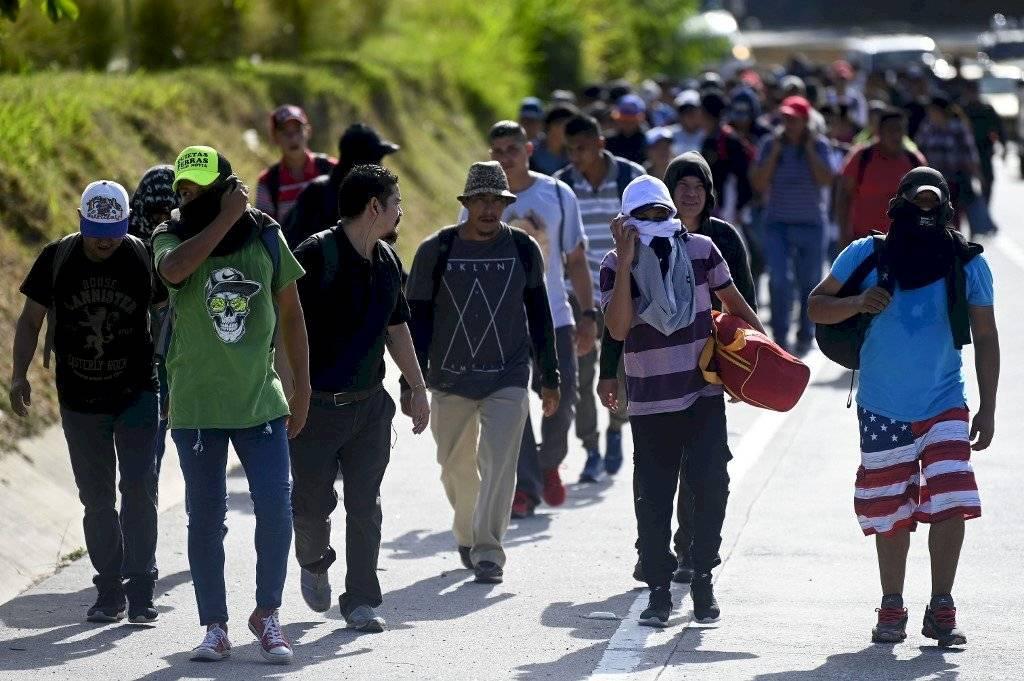 La caravana de centroamericanos que busca llega a Estados Unidos. Foto: AFP