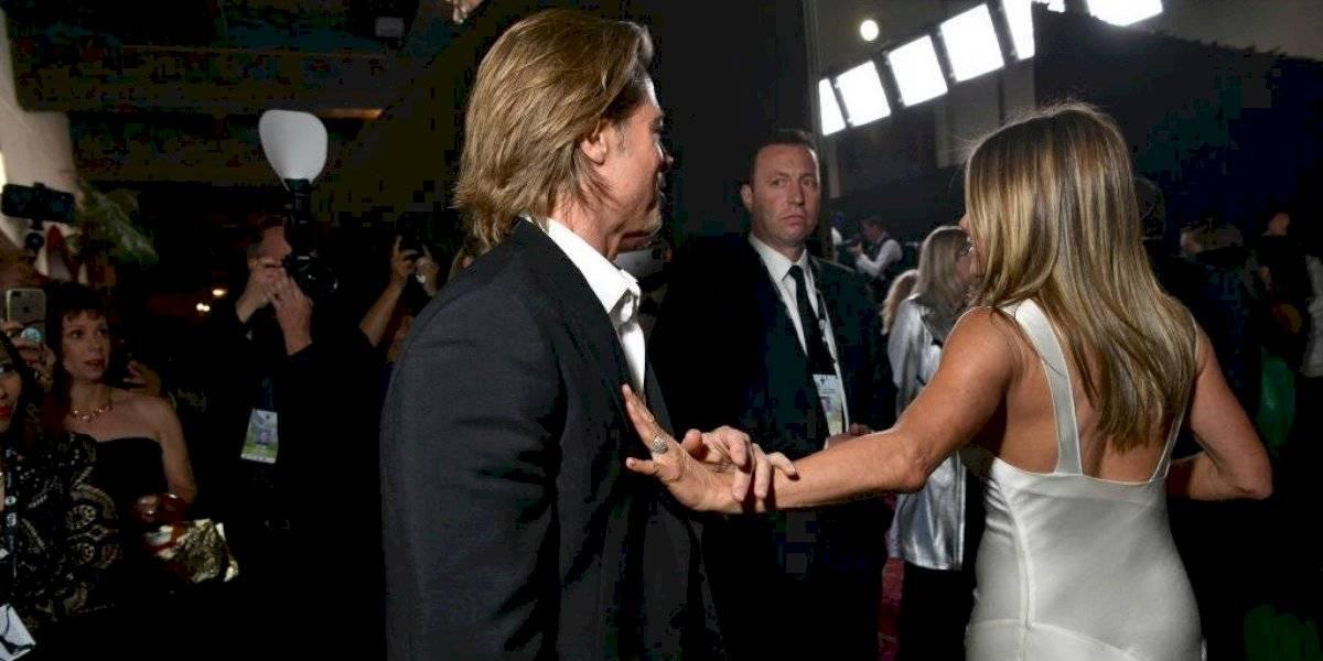 Esperé 14 años para esto: así fue el reencuentro de Brad Pitt y Jennifer Aniston en los premios SAG