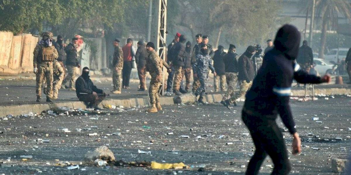 Manifestaciones en Bagdad dejan 13 personas heridas