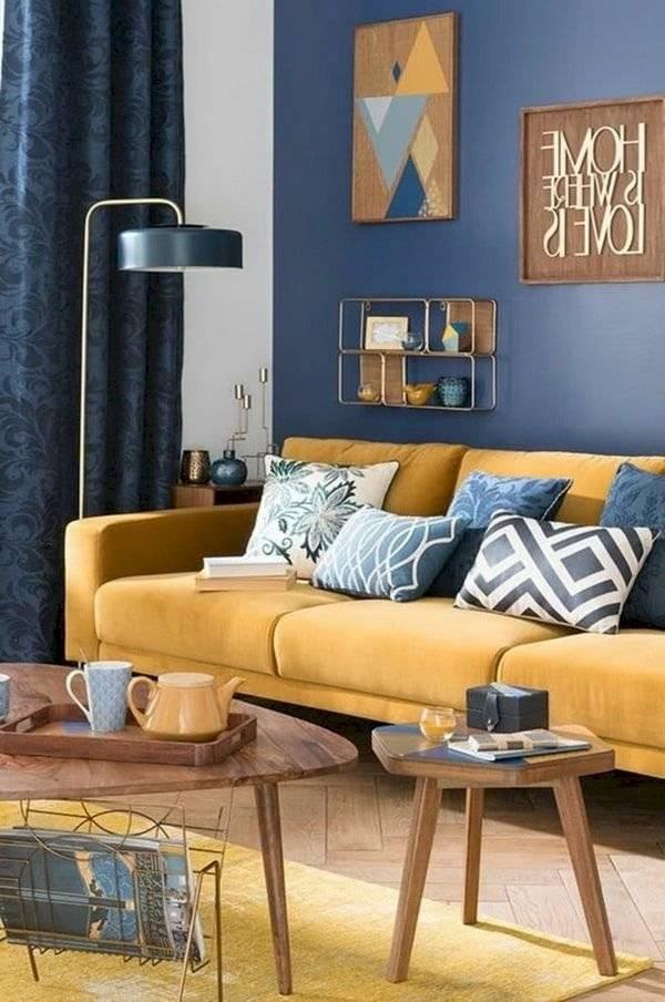 Decoración diseño azul
