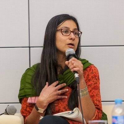 Payal Parekh, portavoz del Strike-WEF