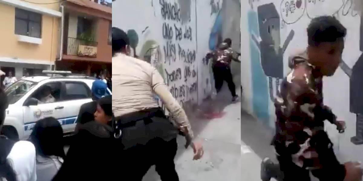 Quito: delincuente escapó de patrullero, agentes no aseguraron la puerta trasera