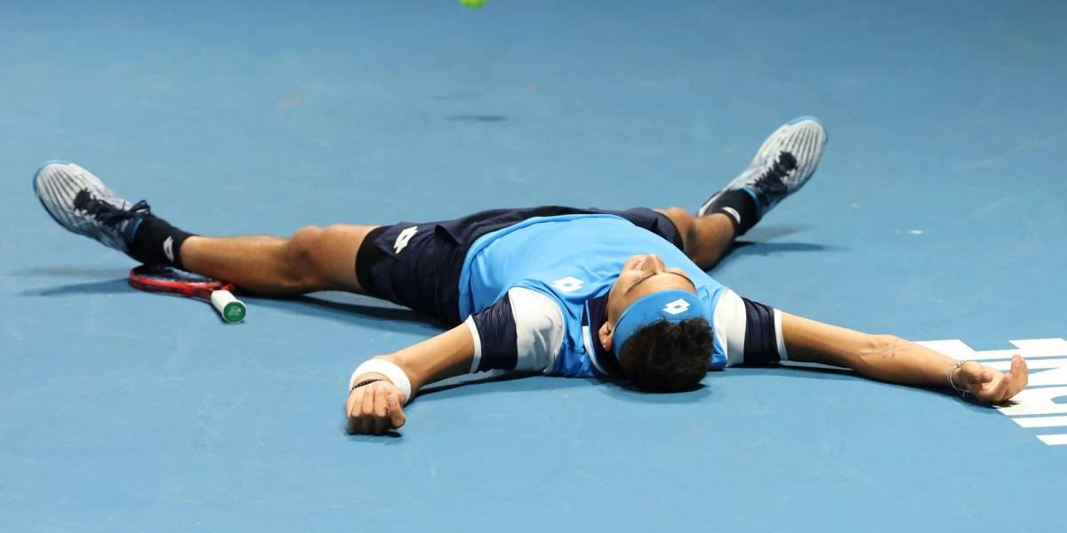 """La emoción de Tabilo en el Abierto de Australia: """"La cabeza casi se me va, pero pude seguir luchando"""""""