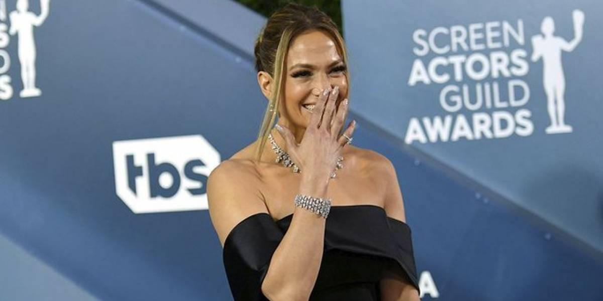 Jennifer Lopez lució diamantes de 9 millones de dólares en los SAGS 2020