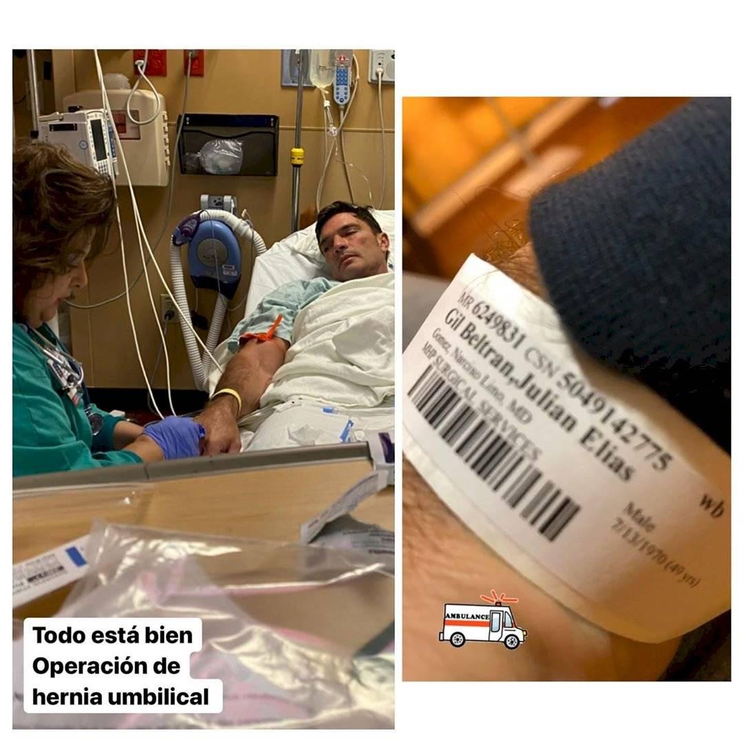 Julián Gil fue intervenido de urgencia en hospital de Miami y ya se recupera en su casa