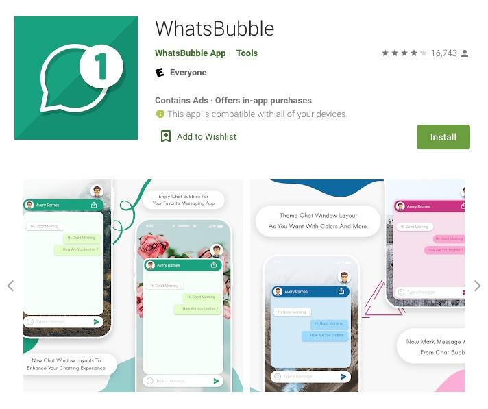 WhatsApp burbujas
