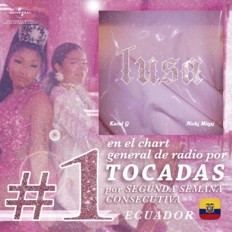 Tusa, el tema musical más tocado en radios del Ecuador