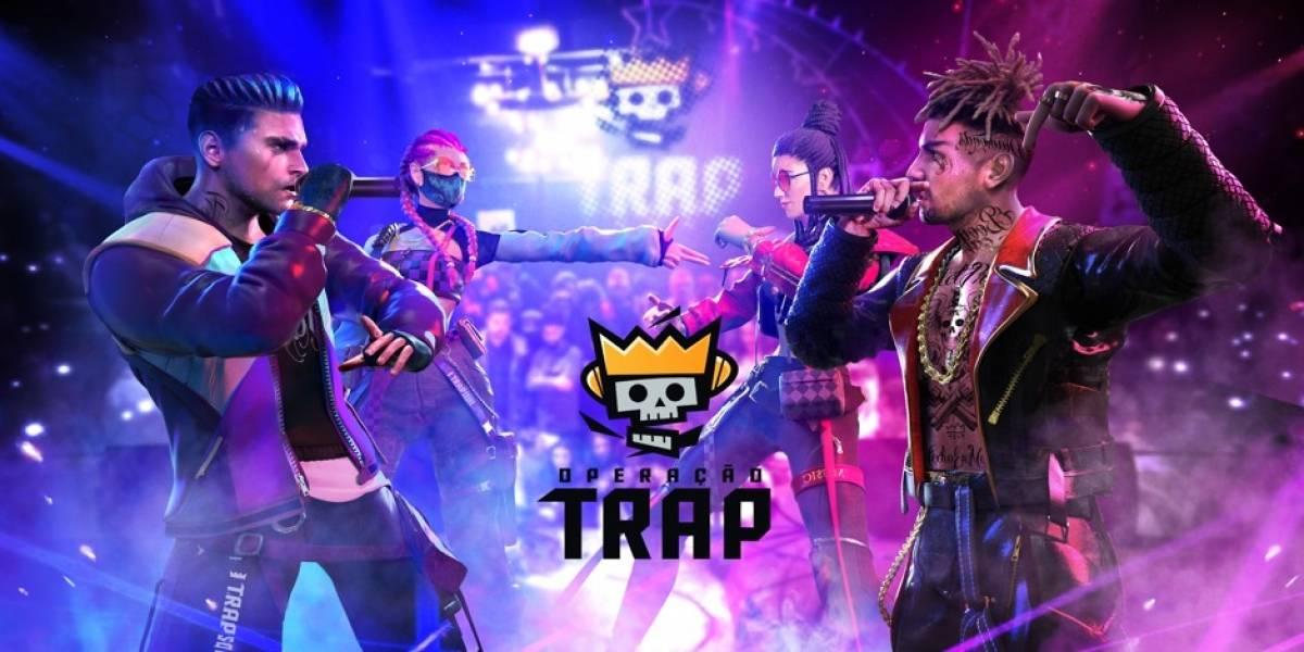 """Com direito a música e videoclipe, grupo """"T.R.A.P."""" receberá skins para Free Fire"""