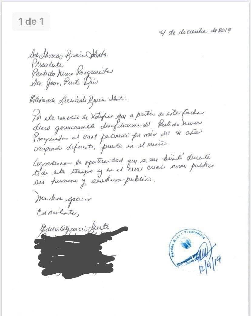 Carta de Familia