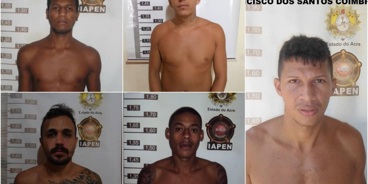 Seis presos são recapturados após fuga de penitenciária no Acre