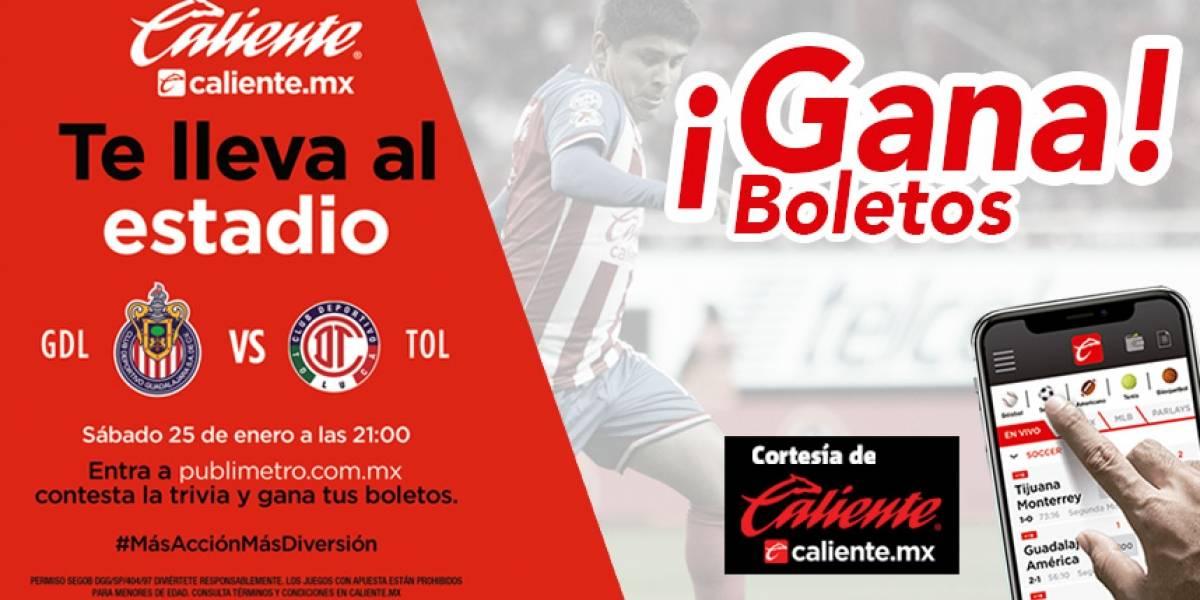 ¡Gana! pase doble para el partido Chivas vs Toluca