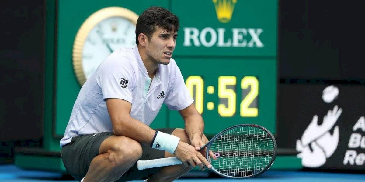 Cristian Garin sucumbió ante Milos Raonic y en tres sets se despidió del Abierto de Australia