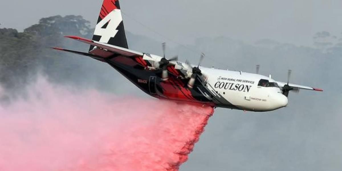 Tres bomberos estadounidenses mueren al estrellarse el avión cisterna que apagaba los incendios en Australia