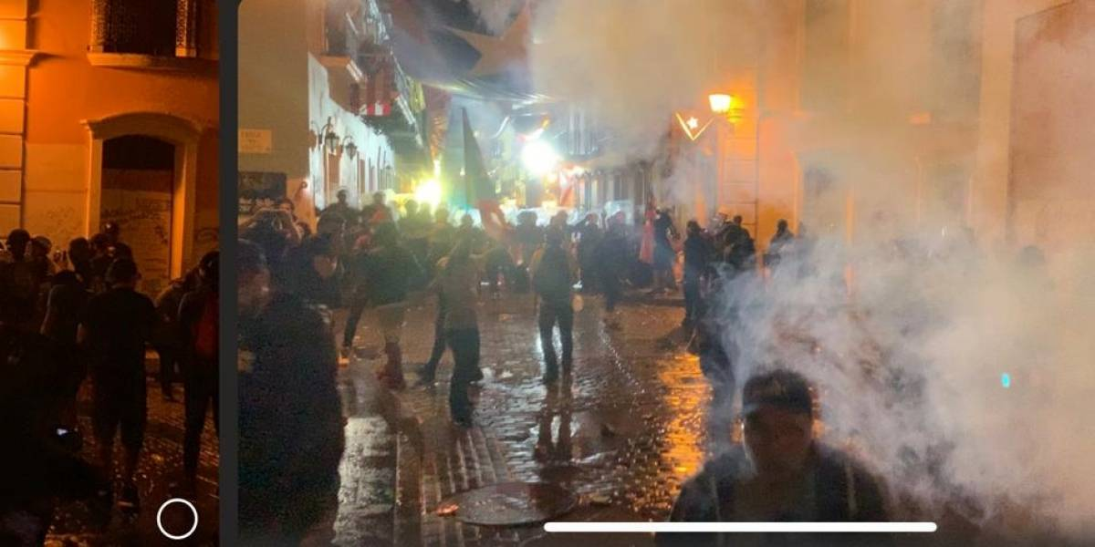 Fuerza de Choque lanza gases lacrimógenos contra manifestantes
