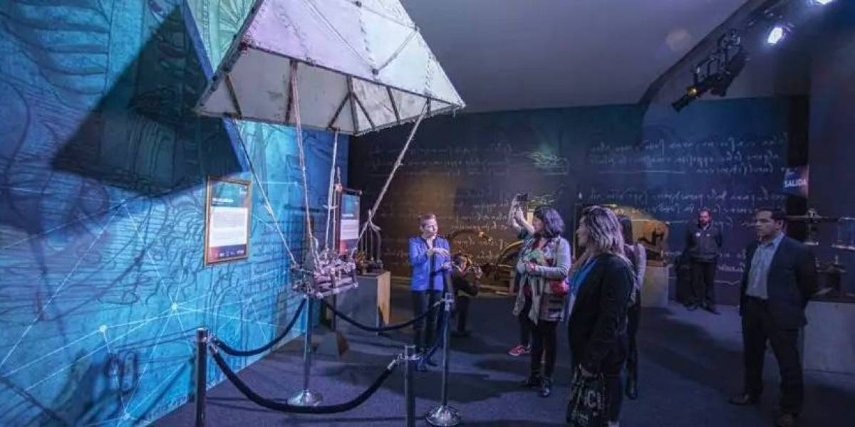 Leonardo da Vinci: Exposição imersiva volta em cartaz em ambiente digital