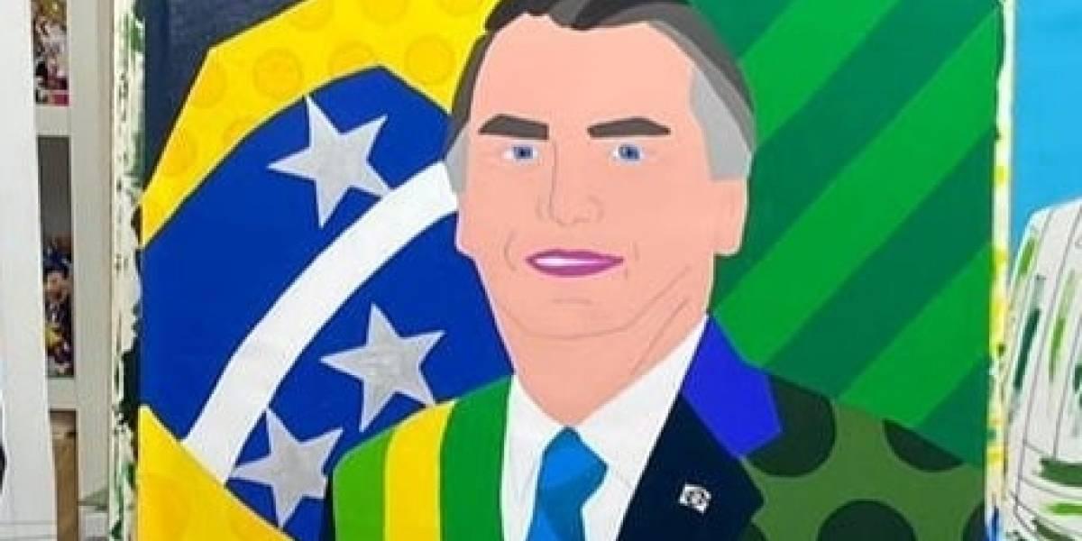 Romero Britto está fazendo quadro em homenagem a Bolsonaro