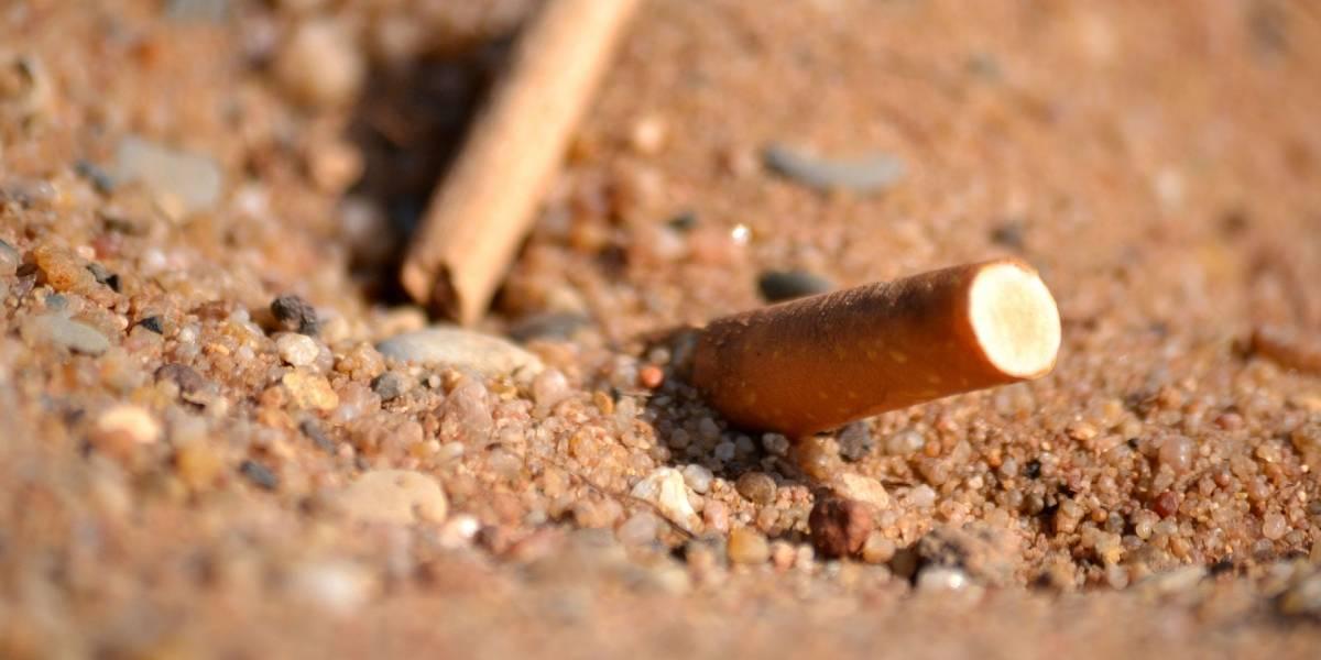 Cigarros são o tipo mais comum de lixo na praia