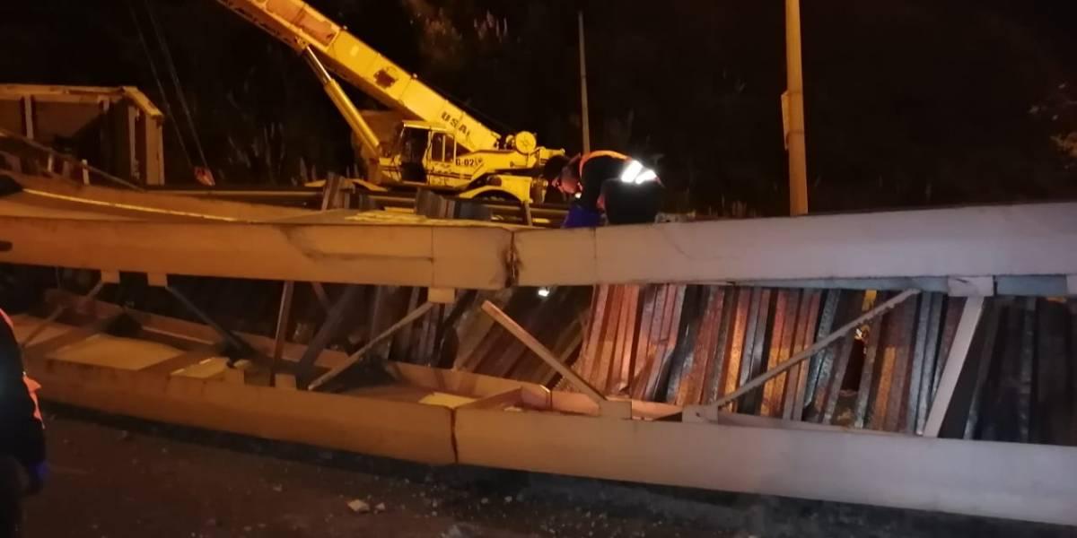 Así está la situación en el sector del colapso del puente en Cuenca-Azogues