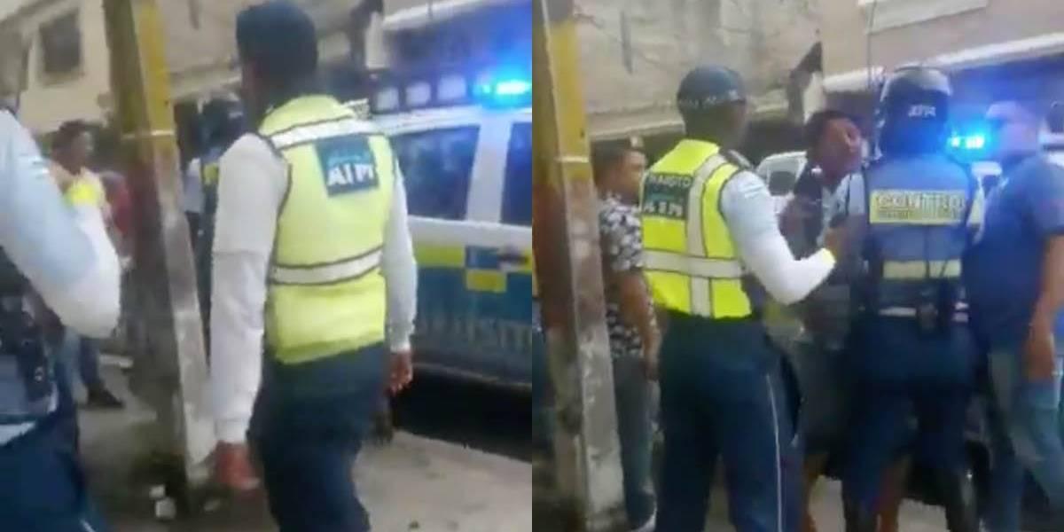 Agentes de tránsito fueron agredidos con piedras en Guayaquil