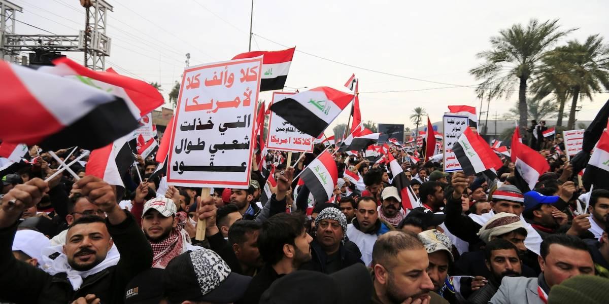 Miles protestan en Irak contra la presencia de Estados Unidos