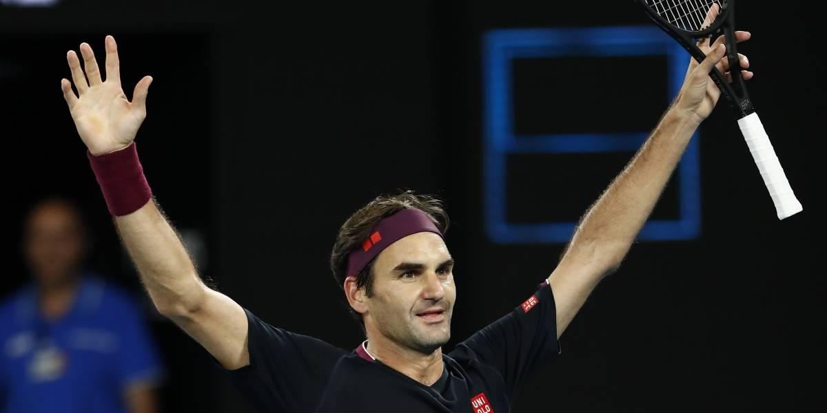 ¡Partidazo! Federer logra su victoria 100 en Australia y avanza a octavos