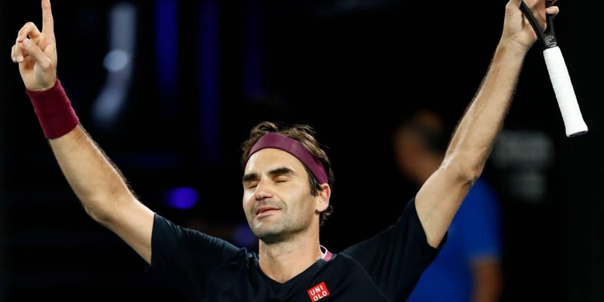 """Roger Federer, el """"hombre 100"""": Sobrevivió a Millman para seguir con vida en Australia y batir un nuevo récord"""