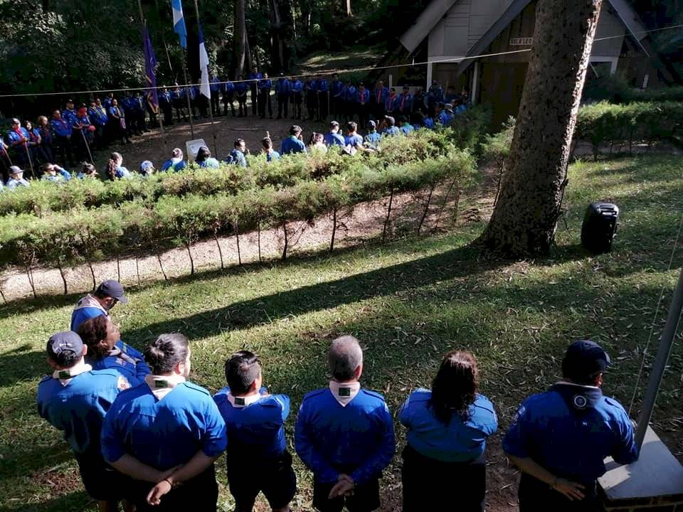 Scouts en San Jorge Muxbal. Foto: Asociación de Scouts de Guatemala