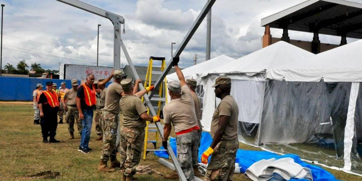 Guardia Nacional comienza traslado a nuevo Campamento Base de Ponce
