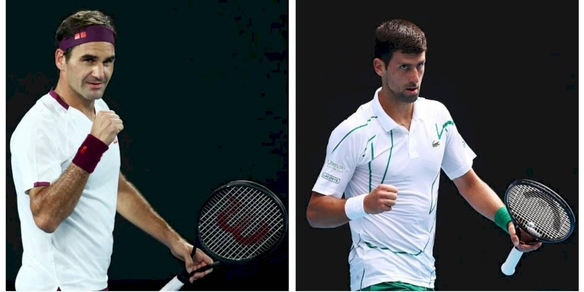 Roger Federer y Novak Djokovic se instalaron sin problemas en los cuartos de final del Abierto de Australia
