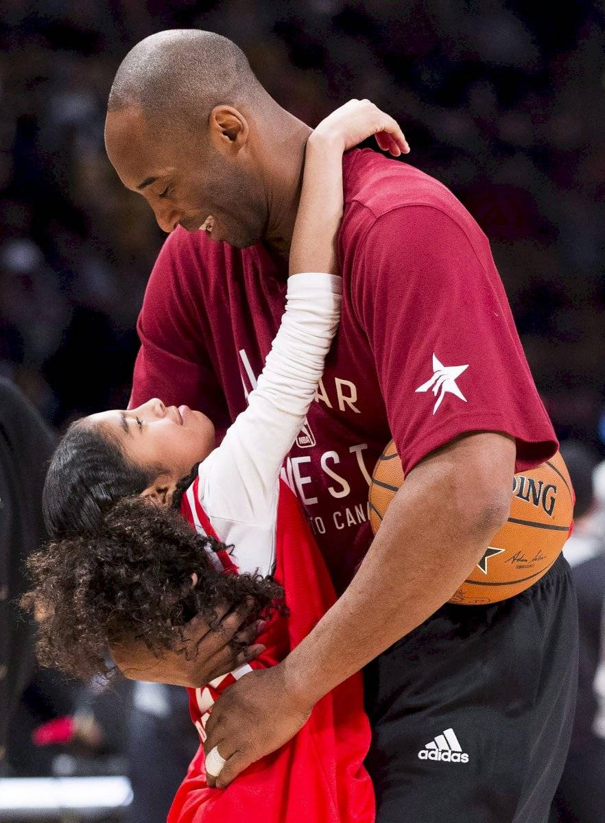 """Kobe Bryant y su hija Gianna """"Gigi"""" Bryant"""