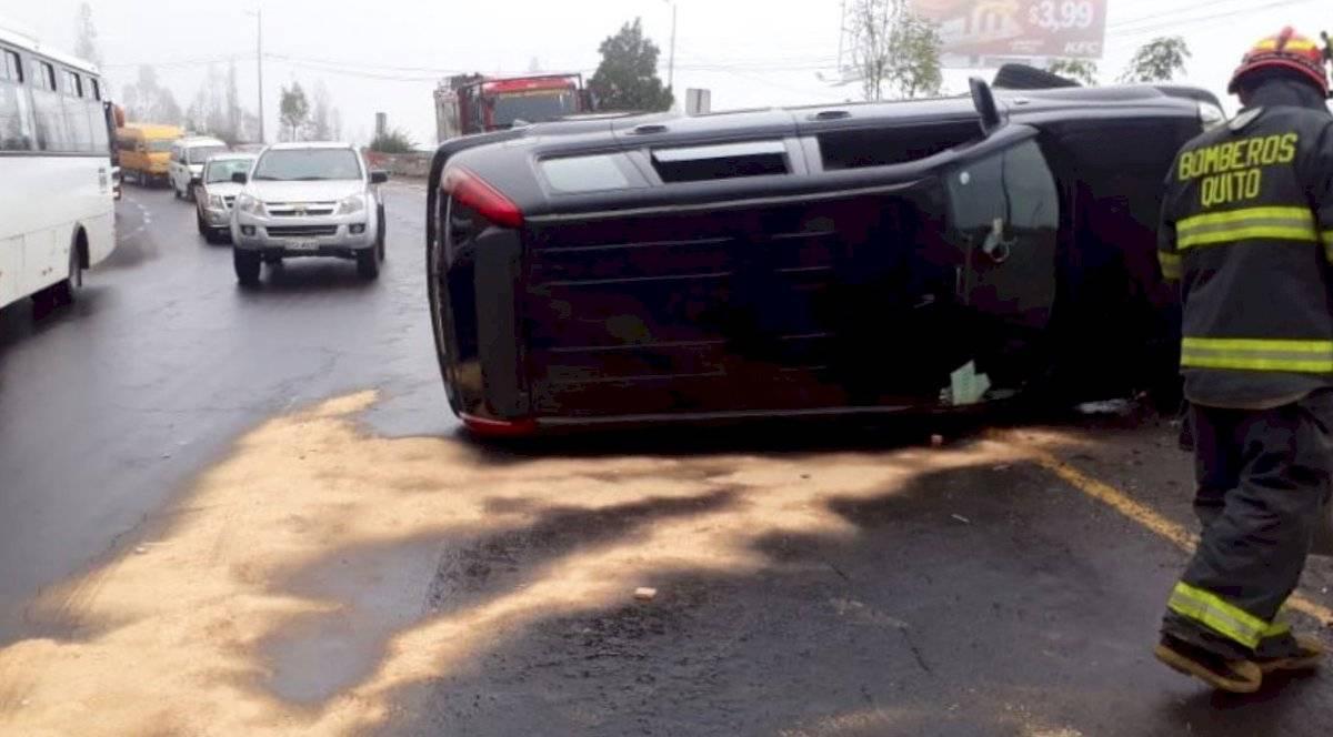 Siniestro de tránsito sobre la Avenida Simón Bolívar