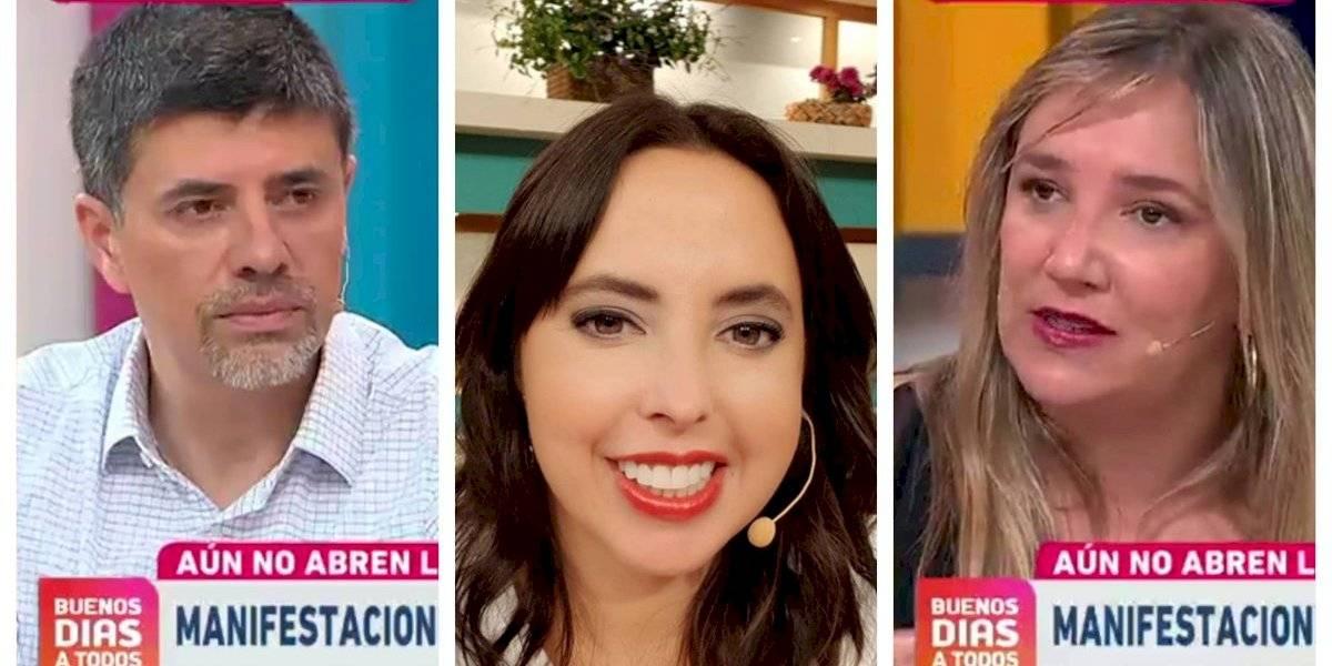 """Chiqui Aguayo perdió la paciencia tras debate entre Marcelo Díaz y María José Hoffman: """"Hay un nivel de violencia importante entre ustedes"""""""